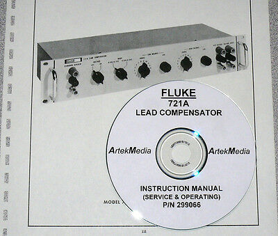 FLUKE 721A Lead Compensator Opeating & Service Manual