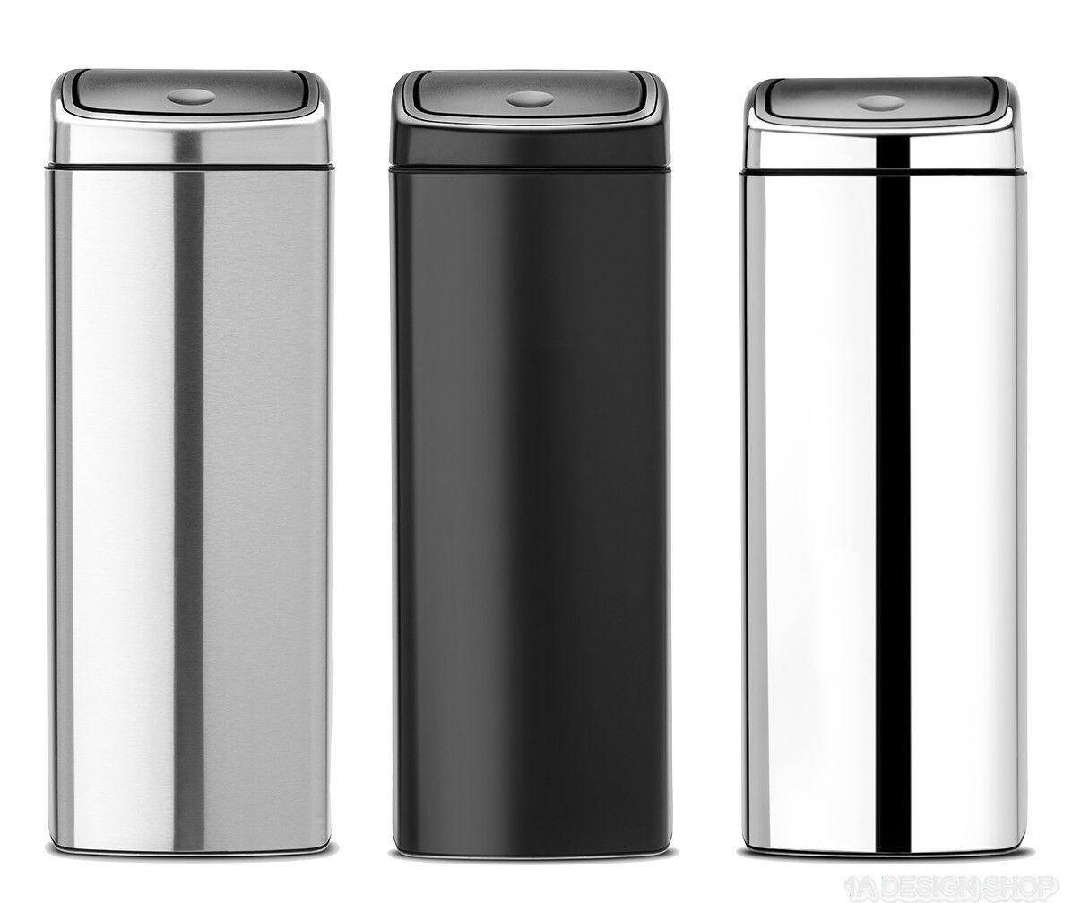 Brabantia Abfallsammler Touch bin 25 Mülleimer Mülltonne Papierkorb rechteckig