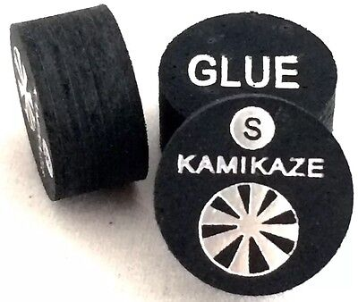 Kamikaze Black Layered Cue Tips  14 MM  (Soft) (3 Tips)  Fast Shipping....