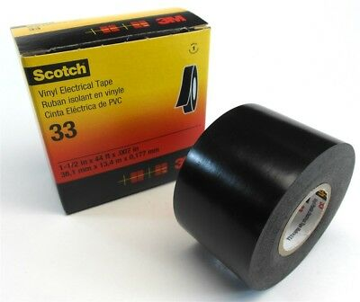 1 Roll Genuine Scotch 3m Vinyl Pvc Electrical Tape 33 1-12 In X 44 Ft X .007