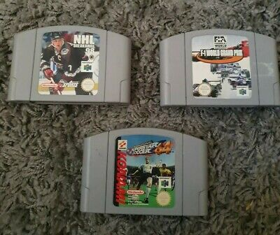 Int. Superstar Soccer 64, F1, NHL Breakaway 98 N64 Game Nintendo 64 - Cart Only.