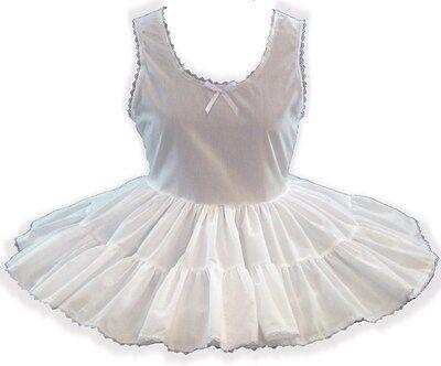 CUSTOM FIT White Broadcloth Slip for Adult Little Girl Sissy Dress up LEANNE
