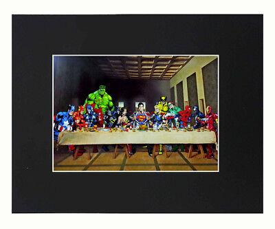 Superheroes Marvel 8x10 matted Art Print Printed Poster Decor picture Artworks](Superhero Decor)