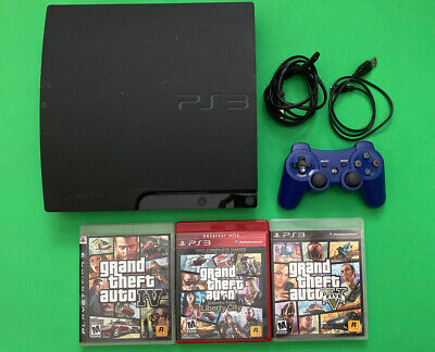 Playstation 3 Slim 160gb Cech 3001 A With Grand Theft Auto Games