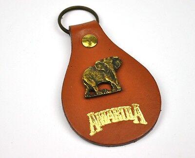 Vintage Amarula Likör Elefant USA Leder Schlüsselanhänger Keychain Key Ring