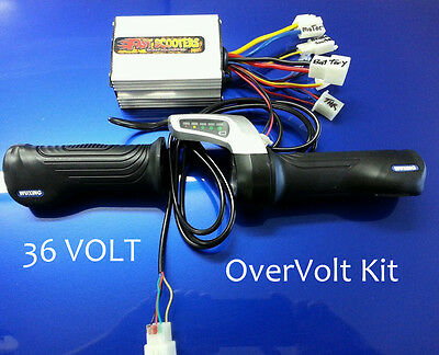 Razor E300 - upgraded throttle, controller, electrical kit- 36 Over Volt Kit