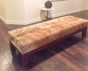 Custom cow hide bench seat Broadbeach Gold Coast City Preview