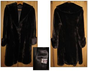 BEAVER FUR COAT VINTAGE GENUINE BROWN JACKET LARGE WARM WEATHERPROOF FASHION BN
