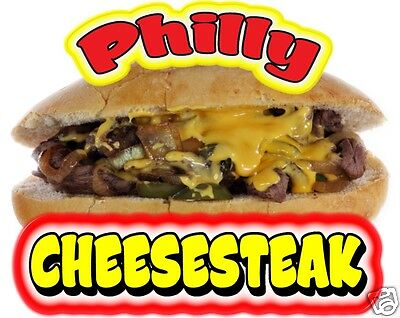 Philly Cheesesteak Cheese Steak Sandwich Concession Sticker Food Truck Decal 14