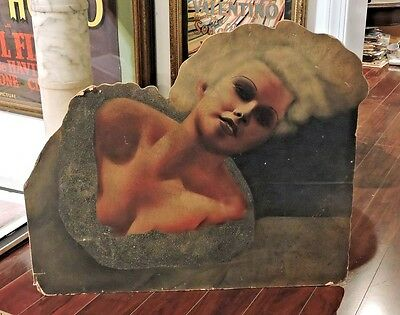 JEAN HARLOW FABULOUS LARGE ORIGINAL THEATER LOBBY DISPLAY 1930S GORGEOUS!