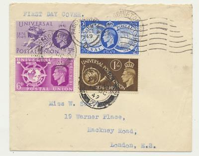 GB 1949 UPU SET ON FIRST DAY COVER (SEE BELOW)