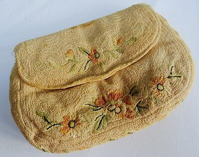 1930s Handbags and Purses Fashion Vintage 1930s Purse Bag Ladies Embroidered Floral Flowers Clutch 30s Handbag $34.41 AT vintagedancer.com
