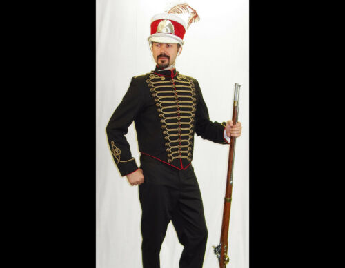 Napoleonic Jacket 1812-1815 11th Hussars Tunic (Prince Albert) Marching Band XL