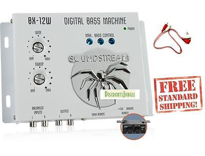 SOUNDSTREAM BX-12W CAR AUDIO DIGITAL BASS PROCESSOR + 1.5 FEET RCA CABLE BX-12