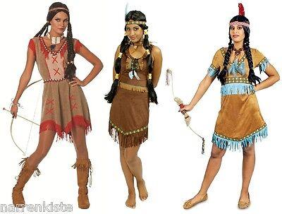 Indianer Indianerin Sioux Squaw Apache Wilder Westen Kostüm Kleid - Indianerin Kostüm