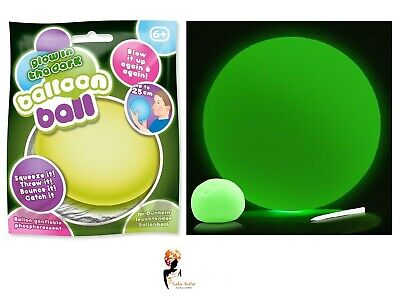 GLOW IN DARK BALLOON BALL Blow Up Bouncy Toy Christmas Gift Stocking Filler ](Bouncy Balloon)
