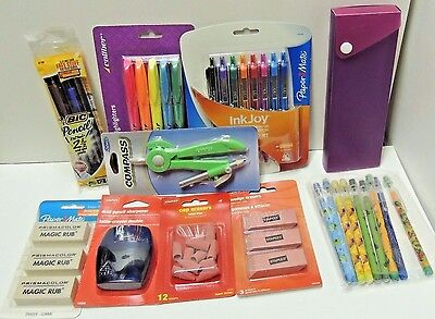 School Or Office Supplies - Ink Joy Highlighters Erasers Holder More - All New