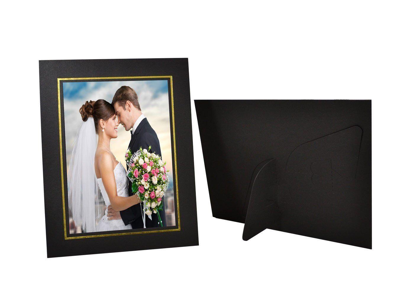 Cardboard easel photo frames
