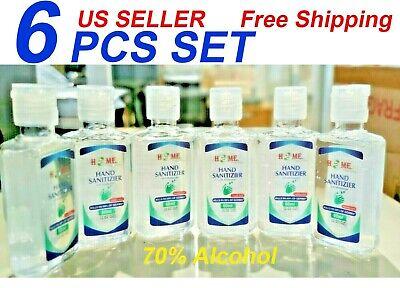Hand Sanitizer With Aloe Vera gel (2.02 Oz), 6 Pcs Set, 70% Alcohol, Travel Size