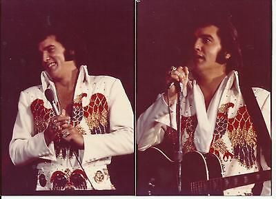 Elvis Presley 5 Photo Set-American Eagle Jumpsuit 1974 & FREE CD! on Rummage