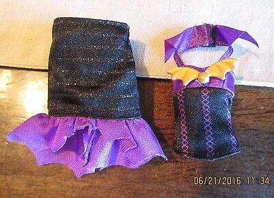 Monster High Create A  Vampire & Sea  BLACK Purple Halter Corset shirt  Skirt