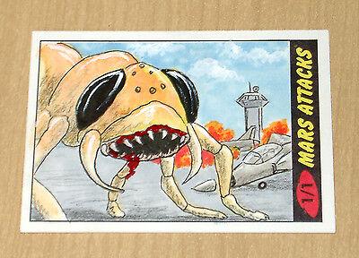 2012 Topps Heritage MARS ATTACKS sketch Dan Bergren 1/1 color card #3