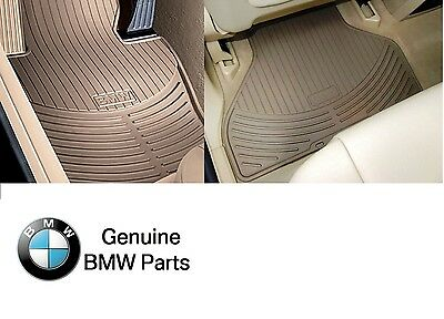 For BMW E53 X5 2003 2006 Front  Rear Beige All Weather Floor Mats Genuine