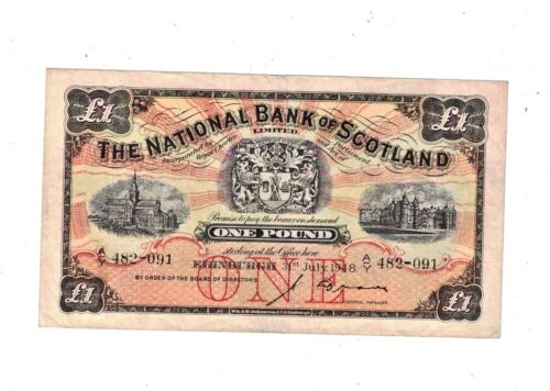 National Bank of Scotland 1948  £1 Note VF