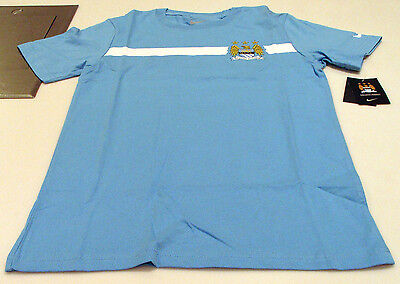Manchester City 2014-15 Core Tee Shirt Soccer Blue M Youth Boys - Core Boys Soccer Shirt