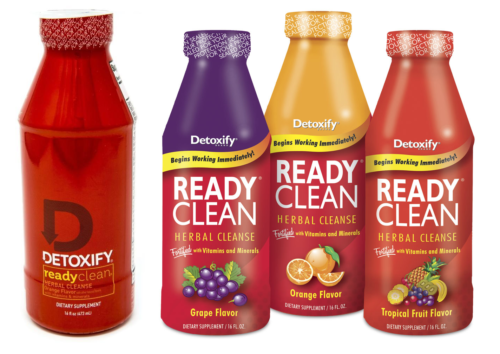 Ready Clean Detox - 2 Bottles 16oz - Grape Orange Tropical Fruit - Mix N Match