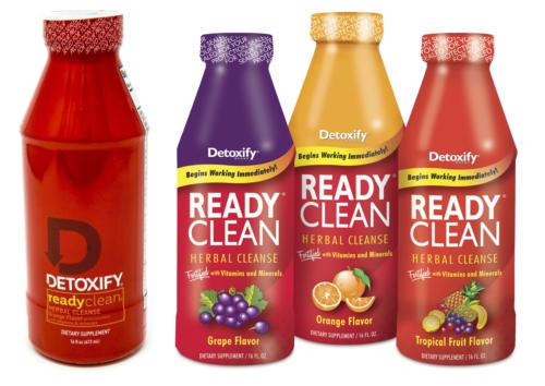Ready Clean Detox - 2 Bottles 16oz - Grape Orange Tropical Fruit - Mix N Match