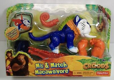THE CROODS MACAWNIVORE MIX & MATCH ACTION FIGURE MISP MOSC FISHER PRICE 2012 HTF