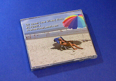 50 Sheets Glossy Cd Jewel Case Back Traycard Inserts Inkjet Laser Gloss Cjgb578