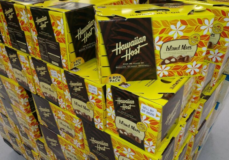 HAWAIIAN HOST CHOCOLATE COVERED MACADAMIA NUT 6 box 30oz GIFT SET  SameDay SHIP