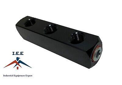 3 Way Air Hose Coupler Distribution Block Bar Line Splitter Manifold 14 Npt