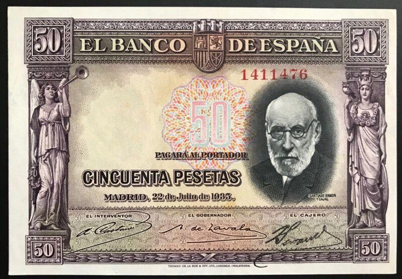 SPAIN 50 PESETAS 1935 UNC