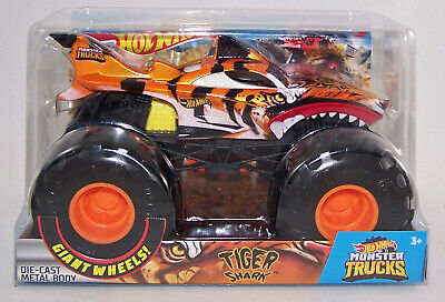 2020 Hot Wheels 1:24 TIGER SHARK Diecast Monster Truck w Giant Wheels - NEW