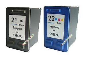 2 ink cartridge for hp 21 22 deskjet f300 f310 printer. Black Bedroom Furniture Sets. Home Design Ideas