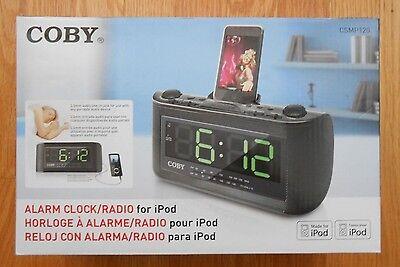 Coby CSMP120 Alarm Clock/Radio for iPod, Black New