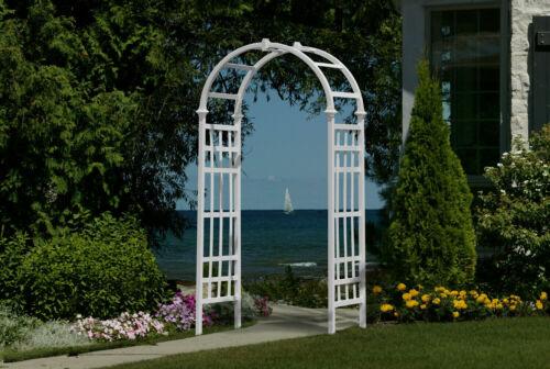 White Arbor Outdoor Garden Yard Wedding Arch Decor Trellis Patio Pergola Gate