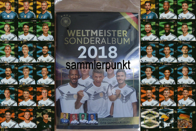 KOMPLETTSATZ oder GLITZERKARTEN Ihrer Wahl / REWE DFB-Stars Sammelkarten WM2018