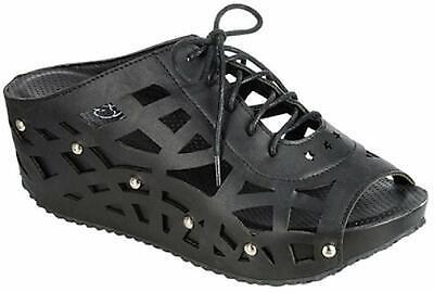 Heel Lace Up Platform Shoe (Women Lace Up Platform High Wedge Heel Slipper Hollow Out Shoes Sandals Hot )