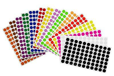 Round Dot Removable Stickers 15mm Assorted Color Coding Circle ~ 5/8 Inch Labels (Colored Stickers)