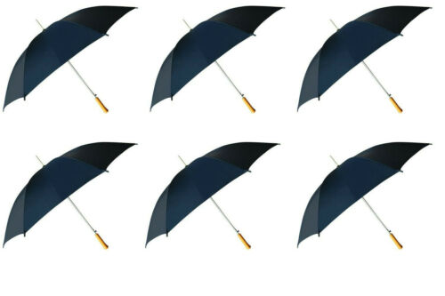 "6PK 48"" Navy Auto Open Umbrella"