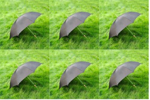 """6PK - 48"""" All Black Umbrella"""
