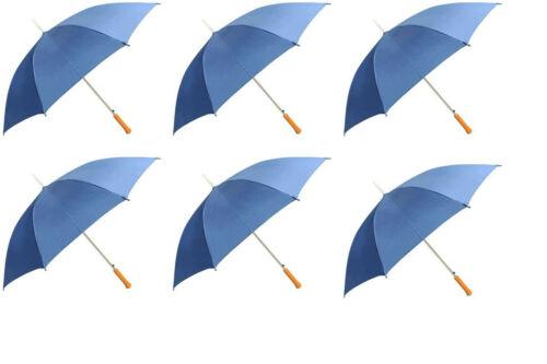 48 Inch Royal Blue Rain Umbrella, 6 Pack