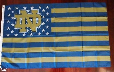 Notre Dame Flag (Notre Dame 3x5 American Flag. US seller. Free shipping within the)