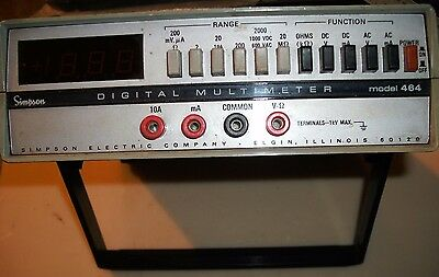 Simpson Model 464 Digital Multimeter - Powers On