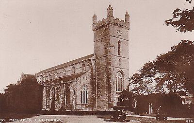 St Michael's Church,Linlithgow,West Lothian,Scotland, R/P Postcard