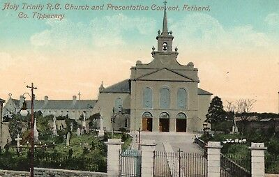 HOLY TRINTY RC CHURCH & PRESENTATION CONVENT FETHARD TIPPERARY IRELAND POSTCARD